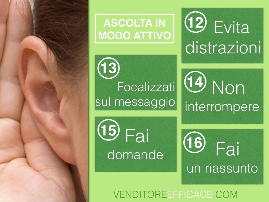 Gli elementi della comunicazione - ascolta in modo attivo