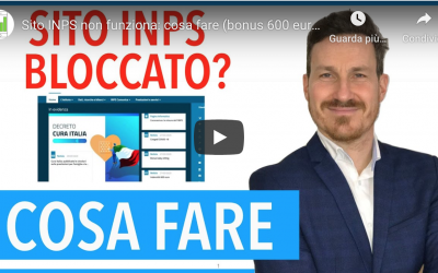 Sito INPS non funziona: cosa fare (bonus 600 euro)